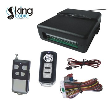 automotive positive/passive door lock and trunk release trigger keyless entry system with window close output