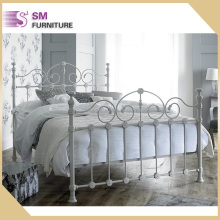Victorian Style Double Cream Metal Bed Frame For Hot Sale