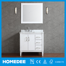 HOMEDEE Western Bathroom Mirror Cabinet Modern With Bowl