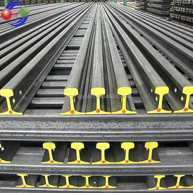 Hot sale 38kg, 43kg, 50kg, 60kg heavy rails with high quality and cheap price from Crystal