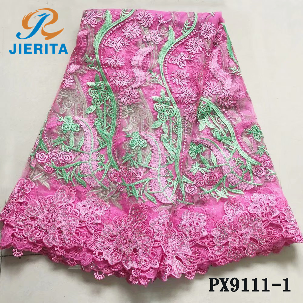 PX9111-1 Water soluble pink design breathable <strong>hole</strong> manual hot drilling net <strong>fabric</strong>