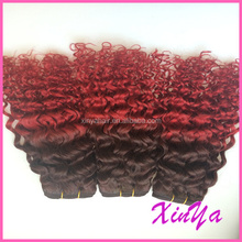 100% virgin natural unprocessed virgin kinky afro curl ombre hair extension