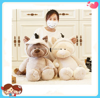 50cm cartoon Stuffed white sleeping toy suprt soft cat in cloth toy for kids