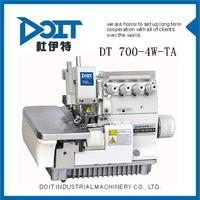 DT 700-4W-TA HIGH SPEED 4 THREAD OVERLOCK SEWING MACHINE PRICE FOR WASHCLOTH OVER EDGING