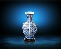 Jingdezhen Classical blue and white antique porcelain vase for decorate home
