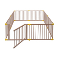 8 Panels Indoor Foldable Baby Wooden Playpen