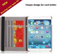 Fashionable antique 2 foldable leather case for ipad 5