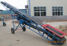 corn belt conveyor belt conveyor with hopper Sand gravel mobile belt conveyor with hopper