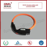 popular DC charging cables with charging gun for EV battery and charging post to electric vehicle-600V