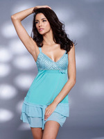 sexy night gown , lady's chemise with lace