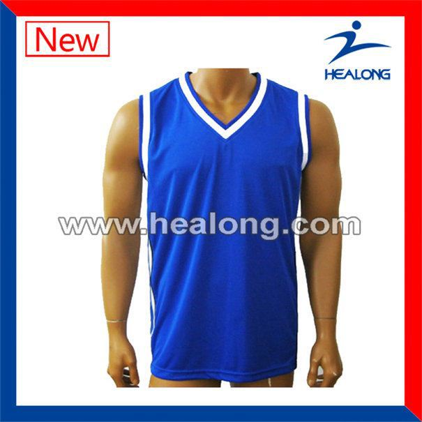 Healong Non Brand Uv-Protection Sublimated Custom Basketball Uniform