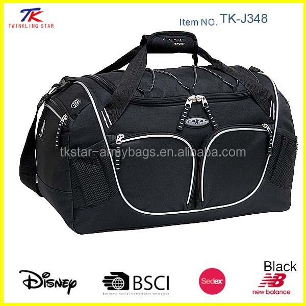 Athletic durable waterproof large capacity travel duffel bag