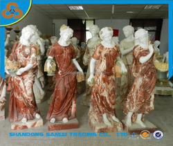famous season match garden four seasons goddess marble statue