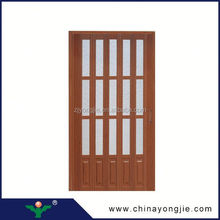Cheap Open Style Swing plastic folding door for bathroom
