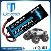Upower hardcase 7.2v 5200mah 2s 35c rc car battery for off-road rc car