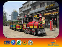 Outdoor playground electric cars ride train ride for tourist