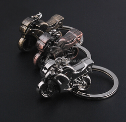 zinc alloy die casting 3D motorcycle keychain keyring
