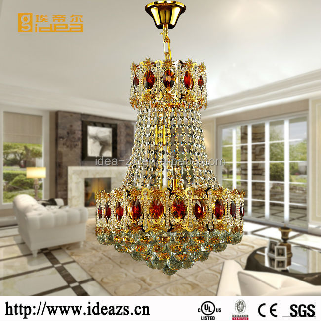 hanging crystal pendant light wrought iron chandelier hotel lamp