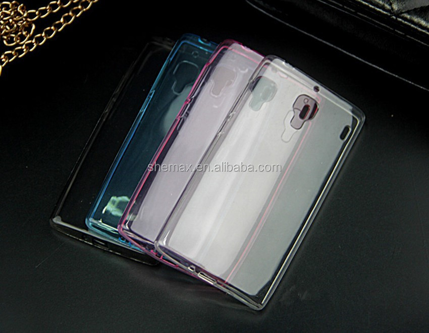 100% transparent color ultra-thin clear colorful tpu back cover phone case for xiaomi m3