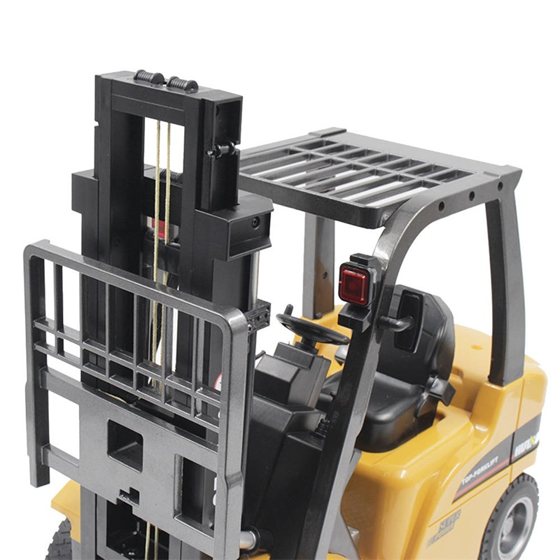 Huina 1577 RC Forklift Alloy Toy Model 1:10 8 Channel Metal Remote Control Constructuon Truck Crane