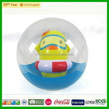 PVC advertising inflatable beach ball with 3D animal inside