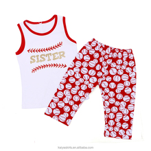 casual sports kids clothing set girl tank shirt and pant carter baby clothes