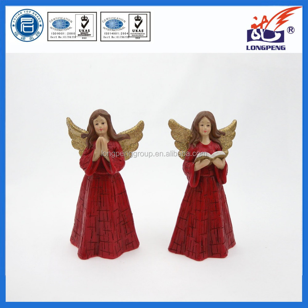 Resin Praying Wing Angel Statues,Polyresin Angel Figurines Wholesale for Home Decoration