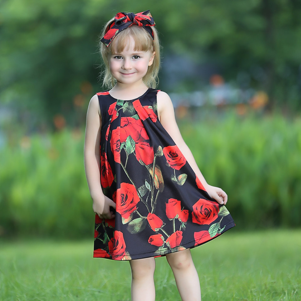 2016 Autumn Fashion u003cstrongu003eDressu003c/strongu003e For Baby Girl Black u003c  sc 1 st  Alibaba Wholesale & Wholesale rose ruffle dress - Online Buy Best rose ruffle dress from ...