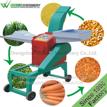 Weiwei animal feed processing grain grinder grass taro crusher straw cutter machine for cattle sheep livestock feeding