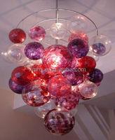 Modern Hand blown art murano glass art ball hanging light fixture of ceiling