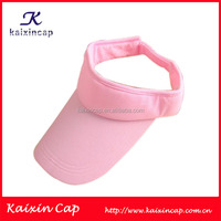 Breathable Mesh Fabric Sports Long Curved Brim Plain Sun Visor Cap With Adjustable Back Closure