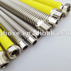 "1/2"" 3/4""stainless steel metal nature gas flexible hose/pipe/tube"