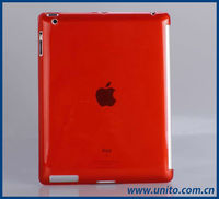 transparent clear TPU back case compatible with smart cover,for ipad 3 case