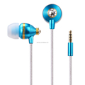 real shinning diamond mobile phone earphone for iphone 6s, nexus pixel, zet, huawei, htc with 3.5 mm earphone jack