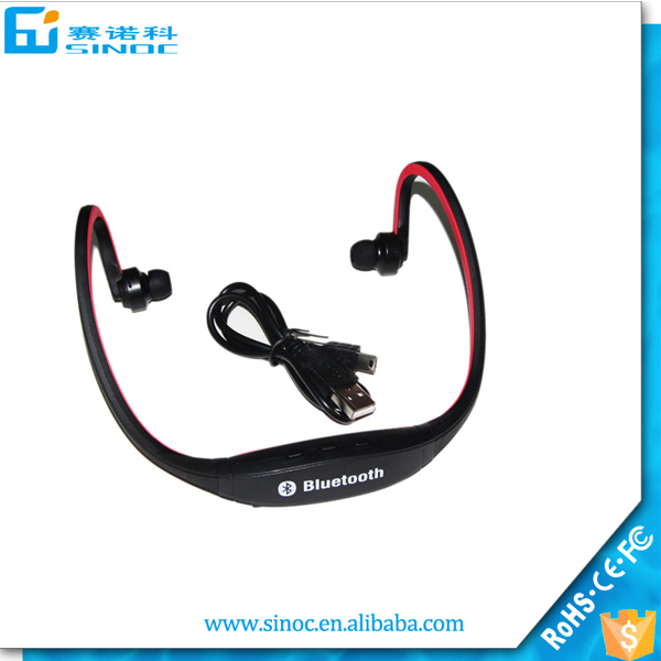 Wholesale necklace earphone bluetooth V4.0 headphone for all bluetooth device 99% compatible