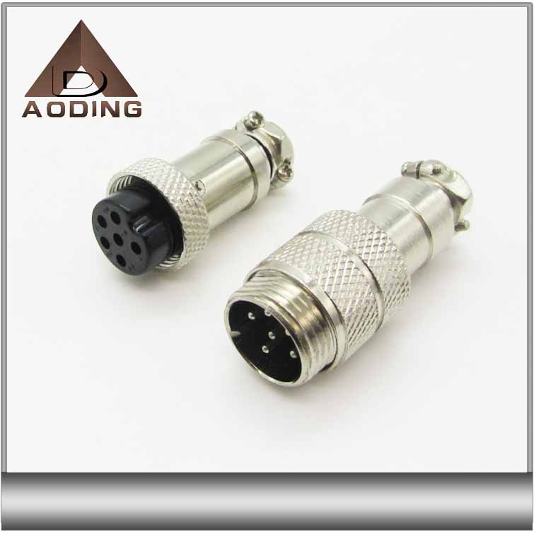 AVIATION CONNECTOR GX16 6 PIN male and female connector