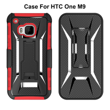 2018 High quality Hybrid Armor Shockproof Heavy Duty Kickstand Cell Phone Cover Mobile Phone Case For HTC One M9