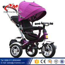 Royal baby tricycles with handle bar 4 in1 wholesale/air tire kids tricycles/noble children's trikes for sale