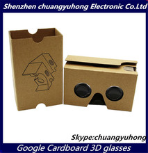 2015 Hot selling Google Cardboard v2.0 VR 3D glasses up to 6.0 inch phones Headset Virtual Reality with NFC wtith 37mm lens OEM