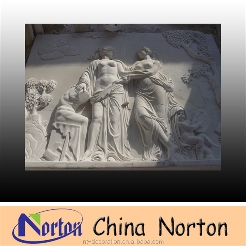 Hand carving marble stone wall art relief decoration , stone relief decorative wall NTMR-R210R