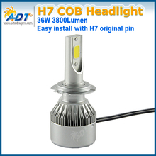 All in one CANBUS COB C6 led headlight H7 PX26D 7600LM LED Headlight kits