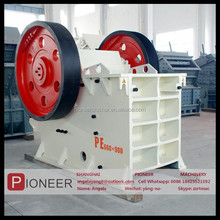 2015 high quality CE ISO certificated pe/pex series stone jaw crusher