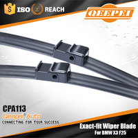 100% brand for bmw germany used cars bosch type soft flat boneless windshield wiper blade , 12v wiper motor high torque