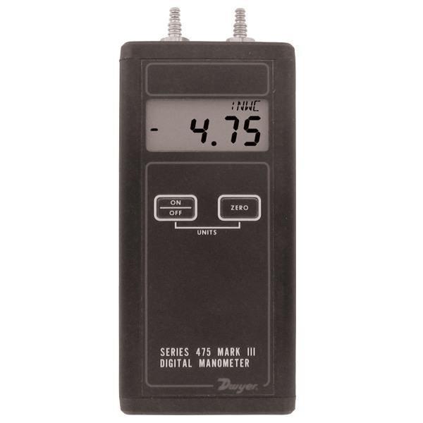 Dwyer 475-0-fm,Series 475 Mark Iii Handheld Digital Manometer,0 ...