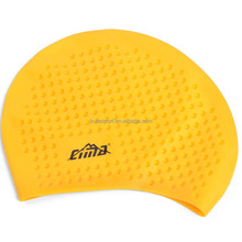 Bright Yellow Color 100% Silicone Material CIMA swimming cap Factory OEM