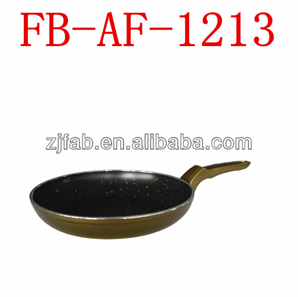 Black Yellow Aluminium Non-stick Ceramic Special Frypan
