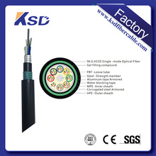 Tender! 48 core single/multi mode Layer Stranded Optic Fiber Cable Gyta53