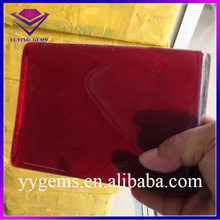 Wuzhou High Quality Lab Created Glass Red Transparent Glass Raw Material for Gemstone Making