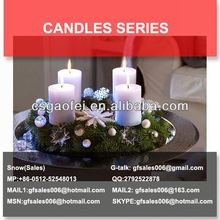 plain white household candles