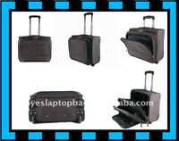 18 inch nylon laptop trolley cabin bag computer trolley bag